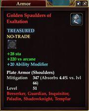 Golden Spaulders of Exaltation