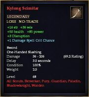 Kylong Scimitar