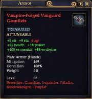 Vampire-Forged Vanguard Gauntlets