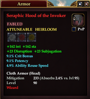 Seraphic Hood of the Invoker
