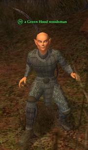 A Green Hood woodsman