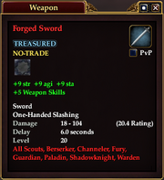 Forged Sword