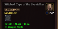Stitched Cape of the Skystalker