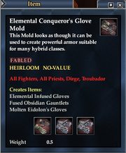 Elemental Conqueror's Glove Mold
