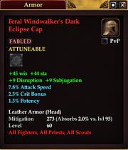 Feral Windwalker's Dark Eclipse Cap