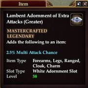 Lambent Adornment of Extra Attacks (Greater)
