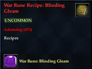War Rune Recipe- Blinding Gleam