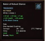 Baton of Robust Stance