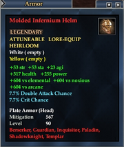 Molded Infernium Helm