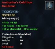 Ambusher's Cold Iron Pauldrons