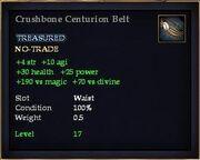 Crushbone Centurion Belt
