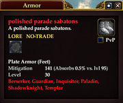 Polished parade sabatons
