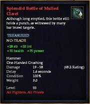 Splendid Bottle of Mulled Claret
