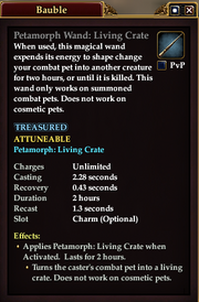 Petamorph Wand Living Crate