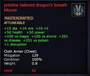 Pristine tailored dragon's breath blouse