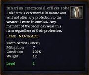 Tunarian ceremonial officer robe