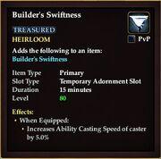 Builders swiftness