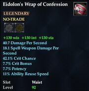Eidolon's Wrap of Confession