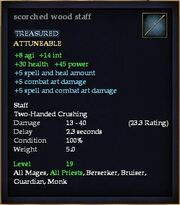 Scorched wood staff