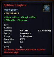 Splitscar Longbow