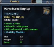 Warpedwood Earplug