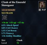 Cloak of the Emerald Stonegazer