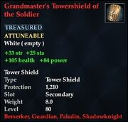 Grandmaster's Tower Shield of the Soldier