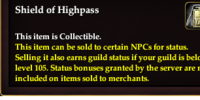 Shield of Highpass
