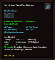 Falchion of Steadfast Posture