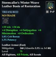 Stormcaller's Winter Weave Leather Boots of Restoration