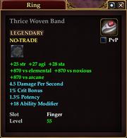 Thrice Woven Band
