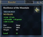 Resilience of the Mountain
