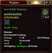 Iron Battle Hammer