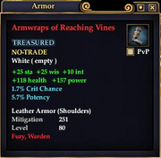 Armwraps of Reaching Vines