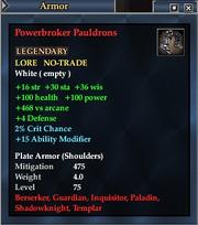 Powerbroker Pauldrons
