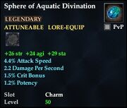 Sphere of Aquatic Divination