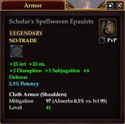 Scholar's Spellwoven Epaulets