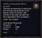 Militia ceremonial officer gussets