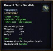 Ravasect Chitin Gauntlets