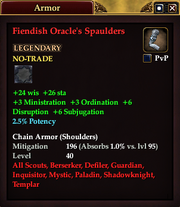 Fiendish Oracle's Spaulders