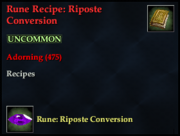 Rune Recipe- Riposte Conversion