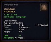 Weighted Flail