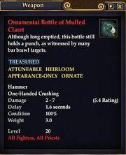 Ornamental Bottle of Mulled Claret