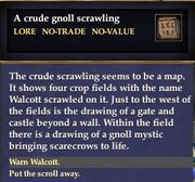 A crude gnoll scrawling