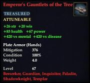 Emperor's Gauntlets of the Tree