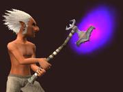Drakizite Battlehammer of the Underdepths (Equipped)