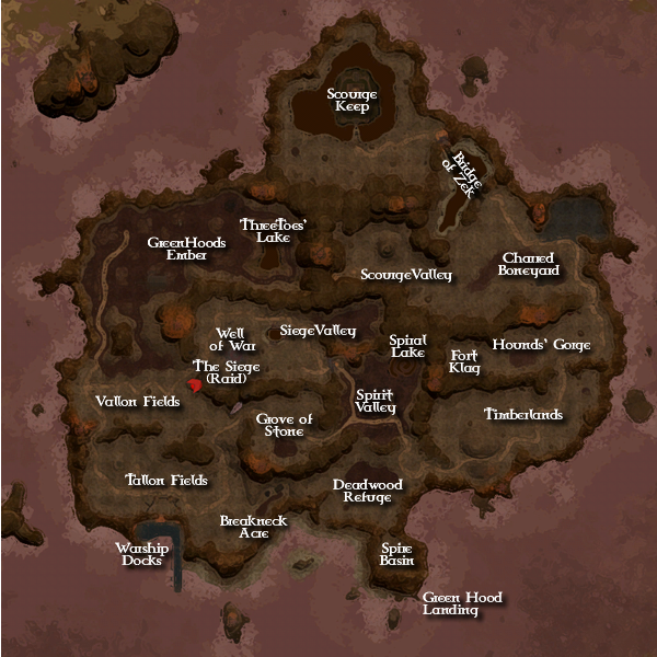 Zek, the Scourge Wastes Map
