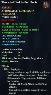 Threaded Darkfeather Boots