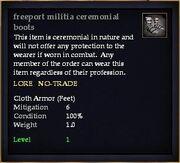 Freeport militia ceremonial boots