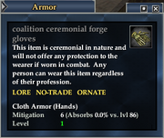 Coalition ceremonial forge gloves